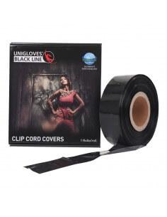 Unigloves® - Clipcordschutzhülle Schwarz auf Rolle