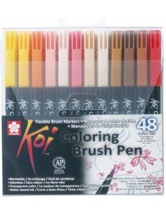 KOI Coloring Brush Pen Set 48