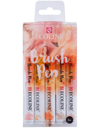 Ecoline Brush Pen set 5 Beige pink
