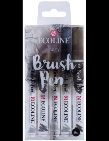 Ecoline Brush Pen set 5 Grey