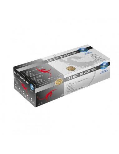 Unigloves LATEX extra long noir (100Pcs.)