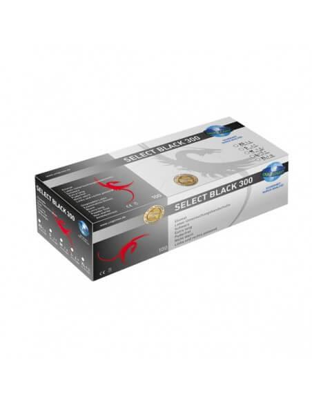 Unigloves LATEX extra long Black (100Pcs.)