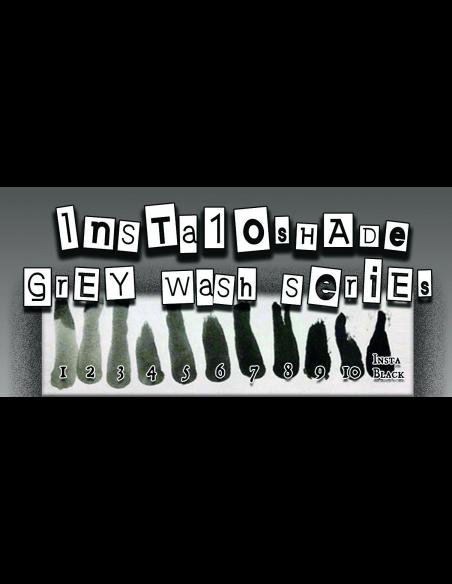 Silverback INK - Insta 10 Shades Grey Wash Set