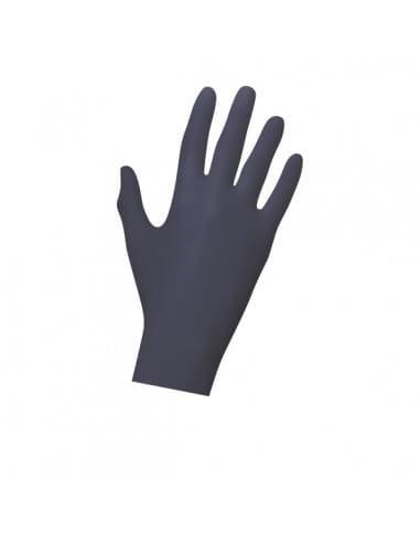 Unigloves Soft NITRIL Gloves Black (100Pcs)