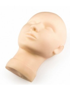 Training head for silicone skin