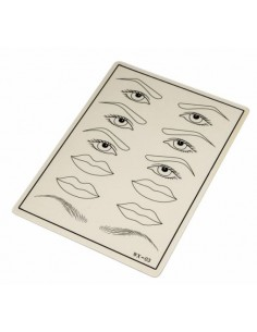 Practice skin for lips, eyes and brows