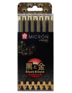 Pigma Micron 6 Fineliners Or Noir édition