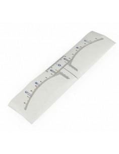 Self-adhesive eyebrow ruler (50Pcs)
