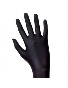 Unigloves Latexhandschuhe - Select Black, puderfrei, 100 Stk