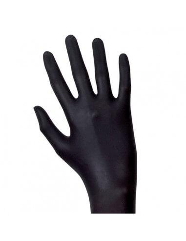 Unigloves Gants LATEX noir (100pcs)